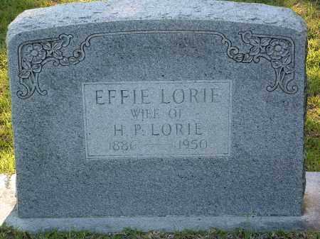 LORIE, EFFIE - Pulaski County, Arkansas | EFFIE LORIE - Arkansas Gravestone Photos