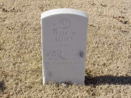LOSEY (VETERAN), JESSE W - Pulaski County, Arkansas | JESSE W LOSEY (VETERAN) - Arkansas Gravestone Photos