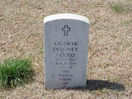 DELONEY LOUDD, OCTAVIA - Pulaski County, Arkansas   OCTAVIA DELONEY LOUDD - Arkansas Gravestone Photos