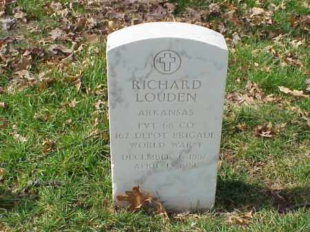 LOUDEN (VETERAN WWI), RICHARD - Pulaski County, Arkansas   RICHARD LOUDEN (VETERAN WWI) - Arkansas Gravestone Photos