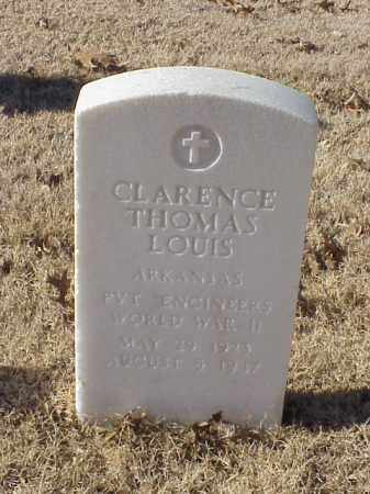 LOUIS (VETERAN WWII), CLARENCE THOMAS - Pulaski County, Arkansas | CLARENCE THOMAS LOUIS (VETERAN WWII) - Arkansas Gravestone Photos