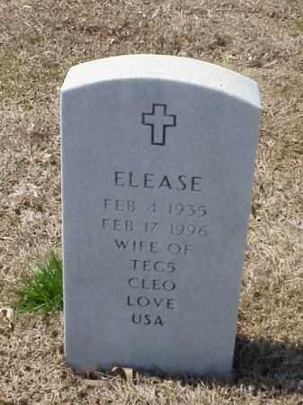 LOVE, ELEASE - Pulaski County, Arkansas   ELEASE LOVE - Arkansas Gravestone Photos