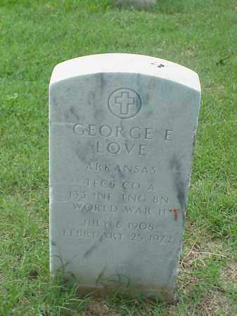 LOVE (VETERAN WWII), GEORGE EVERTT - Pulaski County, Arkansas | GEORGE EVERTT LOVE (VETERAN WWII) - Arkansas Gravestone Photos
