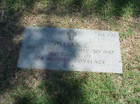 LOVELACE, JILLIAN C - Pulaski County, Arkansas | JILLIAN C LOVELACE - Arkansas Gravestone Photos