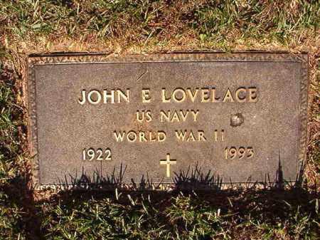 LOVELACE (VETERAN WWII), JOHN E - Pulaski County, Arkansas | JOHN E LOVELACE (VETERAN WWII) - Arkansas Gravestone Photos
