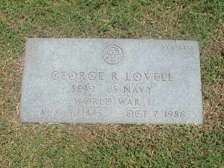 LOVELL (VETERAN WWI), GEORGE R - Pulaski County, Arkansas | GEORGE R LOVELL (VETERAN WWI) - Arkansas Gravestone Photos