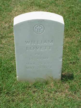 LOVETT (VETERAN WWII), WILLIAM - Pulaski County, Arkansas | WILLIAM LOVETT (VETERAN WWII) - Arkansas Gravestone Photos