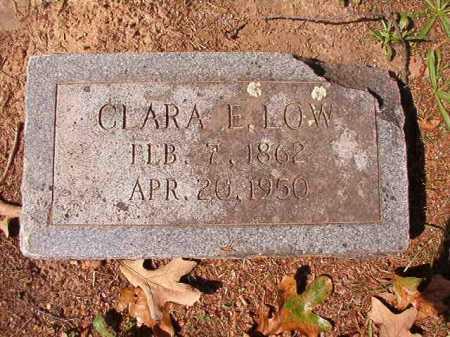 LOW, CLARA E - Pulaski County, Arkansas   CLARA E LOW - Arkansas Gravestone Photos