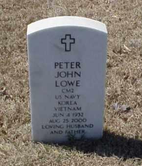 LOWE (VETERAN 2 WARS), PETER JOHN - Pulaski County, Arkansas | PETER JOHN LOWE (VETERAN 2 WARS) - Arkansas Gravestone Photos