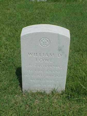 LOWE (VETERAN WWI), WILLIAM D - Pulaski County, Arkansas | WILLIAM D LOWE (VETERAN WWI) - Arkansas Gravestone Photos