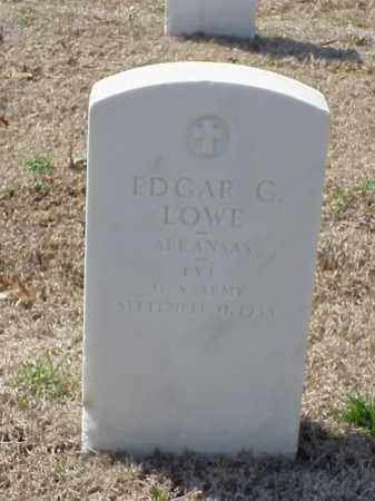 LOWE (VETERAN WWI), EDGAR G - Pulaski County, Arkansas | EDGAR G LOWE (VETERAN WWI) - Arkansas Gravestone Photos