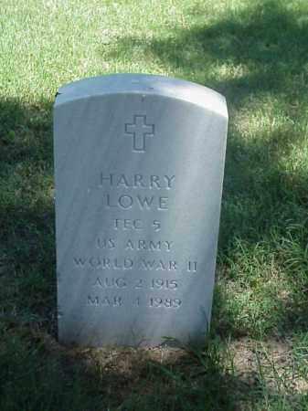 LOWE (VETERAN WWII), HARRY - Pulaski County, Arkansas   HARRY LOWE (VETERAN WWII) - Arkansas Gravestone Photos