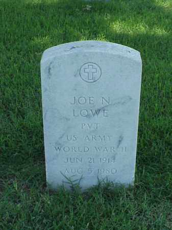 LOWE (VETERAN WWII), JOE N - Pulaski County, Arkansas | JOE N LOWE (VETERAN WWII) - Arkansas Gravestone Photos