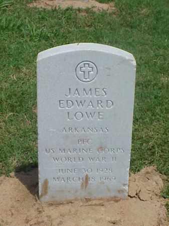 LOWE (VETERAN WWII), JAMES EDWARD - Pulaski County, Arkansas | JAMES EDWARD LOWE (VETERAN WWII) - Arkansas Gravestone Photos