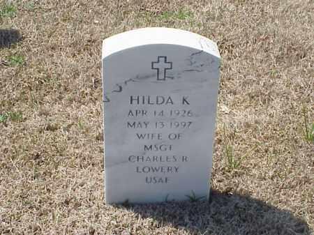 LOWERY, HILDA K - Pulaski County, Arkansas | HILDA K LOWERY - Arkansas Gravestone Photos
