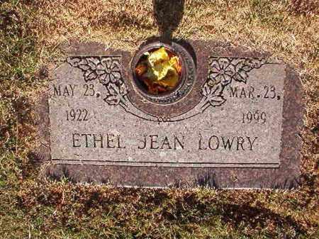LOWRY, ETHEL JEAN - Pulaski County, Arkansas | ETHEL JEAN LOWRY - Arkansas Gravestone Photos