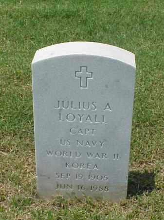 LOYALL (VETERAN 2 WARS), JULIUS A - Pulaski County, Arkansas | JULIUS A LOYALL (VETERAN 2 WARS) - Arkansas Gravestone Photos