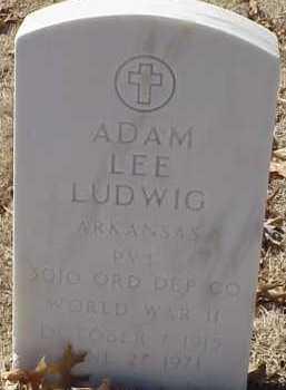 LUDWIG  (VETERAN WWII), ADAM LEE - Pulaski County, Arkansas | ADAM LEE LUDWIG  (VETERAN WWII) - Arkansas Gravestone Photos