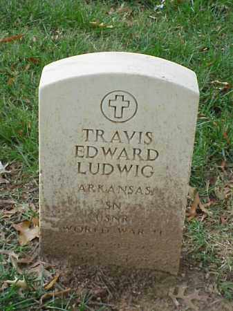 LUDWIG (VETERAN WWII), TRAVIS EDWARD - Pulaski County, Arkansas | TRAVIS EDWARD LUDWIG (VETERAN WWII) - Arkansas Gravestone Photos