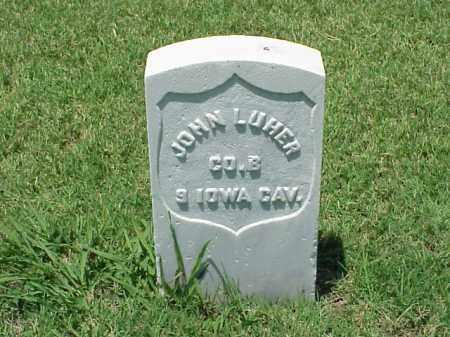 LUHER (VETERAN UNION), JOHN - Pulaski County, Arkansas | JOHN LUHER (VETERAN UNION) - Arkansas Gravestone Photos