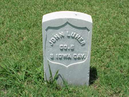 LUHER (VETERAN UNION), JOHN - Pulaski County, Arkansas   JOHN LUHER (VETERAN UNION) - Arkansas Gravestone Photos