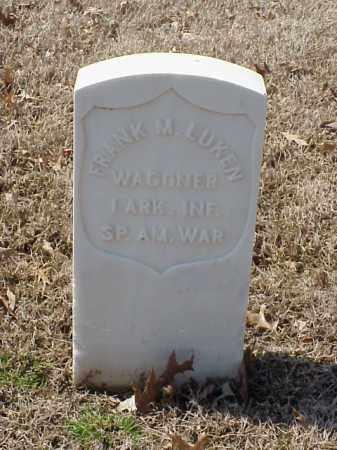 LUKEN (VETERAN SAW), FRANK M - Pulaski County, Arkansas   FRANK M LUKEN (VETERAN SAW) - Arkansas Gravestone Photos