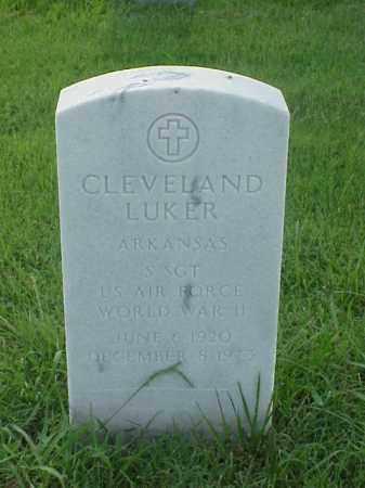 LUKER (VETERAN WWII), CLEVELAND - Pulaski County, Arkansas   CLEVELAND LUKER (VETERAN WWII) - Arkansas Gravestone Photos