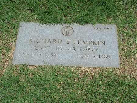 LUMPKIN (VETERAN), RICHARD E - Pulaski County, Arkansas   RICHARD E LUMPKIN (VETERAN) - Arkansas Gravestone Photos