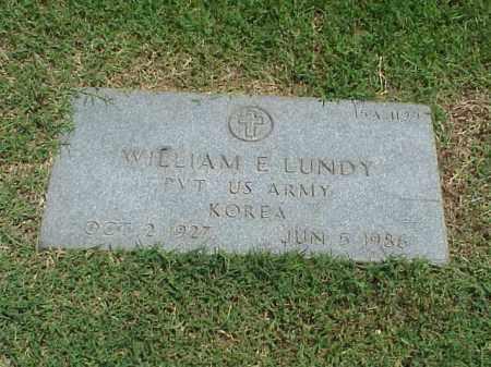 LUNDY (VETERAN KOR), WILLIAM E - Pulaski County, Arkansas | WILLIAM E LUNDY (VETERAN KOR) - Arkansas Gravestone Photos