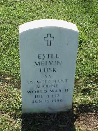 LUSK (VETERAN WWII), ESTEL MELVIN - Pulaski County, Arkansas   ESTEL MELVIN LUSK (VETERAN WWII) - Arkansas Gravestone Photos