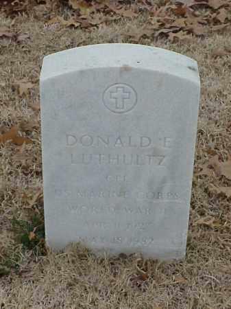 LUTHULTZ (VETERAN WWII), DONALD E - Pulaski County, Arkansas   DONALD E LUTHULTZ (VETERAN WWII) - Arkansas Gravestone Photos