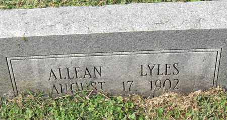 LYLES, ALLEAN - Pulaski County, Arkansas   ALLEAN LYLES - Arkansas Gravestone Photos