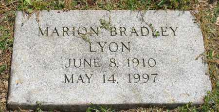 BRADLEY LYON, MARION - Pulaski County, Arkansas   MARION BRADLEY LYON - Arkansas Gravestone Photos