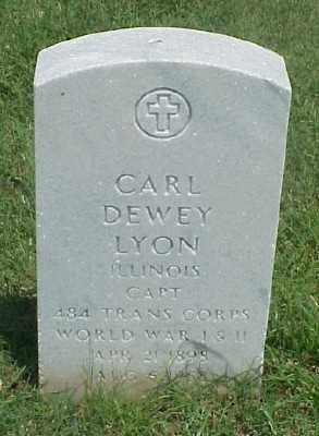 LYON (VETERAN 2 WARS), CARL DEWEY - Pulaski County, Arkansas | CARL DEWEY LYON (VETERAN 2 WARS) - Arkansas Gravestone Photos