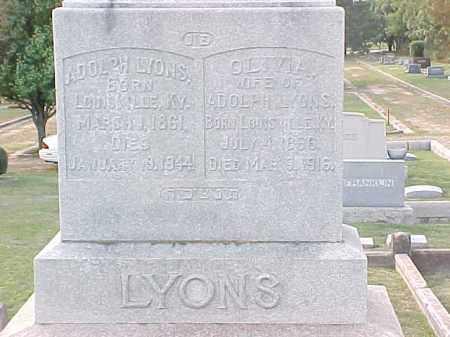 LYONS, ADOLPH - Pulaski County, Arkansas   ADOLPH LYONS - Arkansas Gravestone Photos