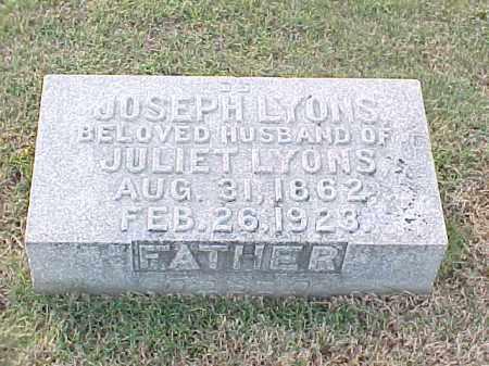 LYONS, JOSEPH - Pulaski County, Arkansas | JOSEPH LYONS - Arkansas Gravestone Photos