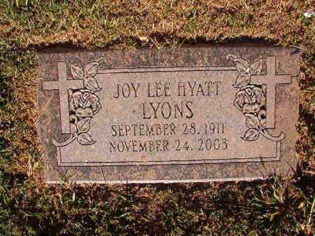 LYONS, JOY LEE - Pulaski County, Arkansas | JOY LEE LYONS - Arkansas Gravestone Photos