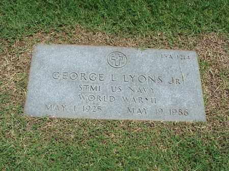 LYONS, JR (VETERAN WWII), GEORGE L - Pulaski County, Arkansas | GEORGE L LYONS, JR (VETERAN WWII) - Arkansas Gravestone Photos