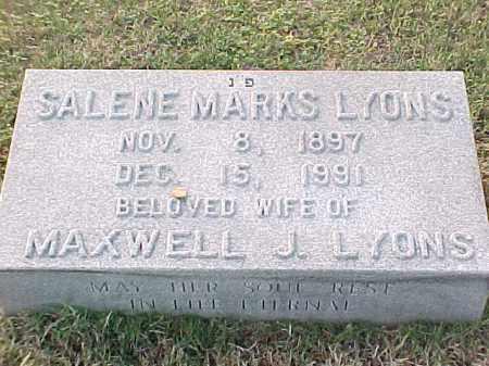 LYONS, SALENE - Pulaski County, Arkansas | SALENE LYONS - Arkansas Gravestone Photos