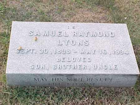 LYONS, SAMUEL RAYMOND - Pulaski County, Arkansas | SAMUEL RAYMOND LYONS - Arkansas Gravestone Photos