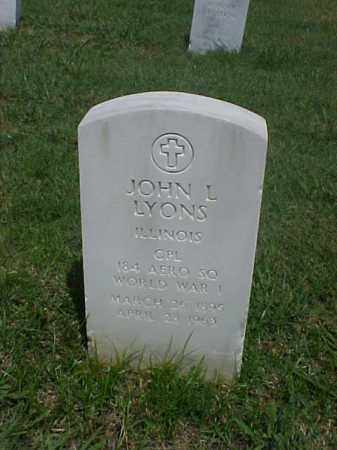 LYONS (VETERAN WWI), JOHN L - Pulaski County, Arkansas   JOHN L LYONS (VETERAN WWI) - Arkansas Gravestone Photos