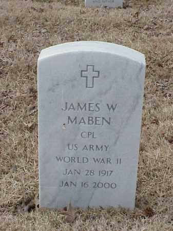 MABEN  (VETERAN WWII), JAMES W - Pulaski County, Arkansas | JAMES W MABEN  (VETERAN WWII) - Arkansas Gravestone Photos