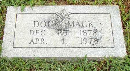 MACK, DOCK - Pulaski County, Arkansas   DOCK MACK - Arkansas Gravestone Photos