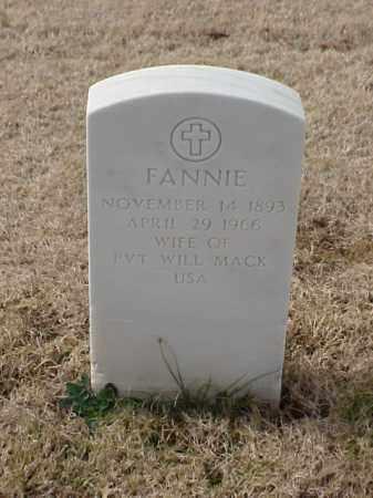 MACK, FANNIE - Pulaski County, Arkansas | FANNIE MACK - Arkansas Gravestone Photos