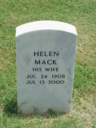 MACK, HELEN - Pulaski County, Arkansas   HELEN MACK - Arkansas Gravestone Photos