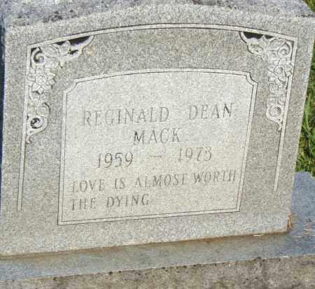 MACK, REGINALD DEAN - Pulaski County, Arkansas | REGINALD DEAN MACK - Arkansas Gravestone Photos