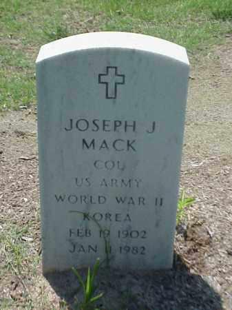MACK (VETERAN 2 WARS), JOSPEH J - Pulaski County, Arkansas | JOSPEH J MACK (VETERAN 2 WARS) - Arkansas Gravestone Photos