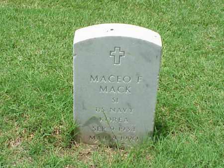 MACK (VETERAN KOR), MACEO F - Pulaski County, Arkansas | MACEO F MACK (VETERAN KOR) - Arkansas Gravestone Photos