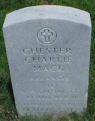 MACK (VETERAN WWII), CHESTER CHARLIE - Pulaski County, Arkansas | CHESTER CHARLIE MACK (VETERAN WWII) - Arkansas Gravestone Photos