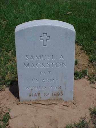 MACKSTON (VETERAN WWI), SAMUEL A - Pulaski County, Arkansas   SAMUEL A MACKSTON (VETERAN WWI) - Arkansas Gravestone Photos